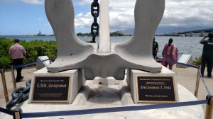 Anchor recovered from the USS Arizona at Pearl Harbor